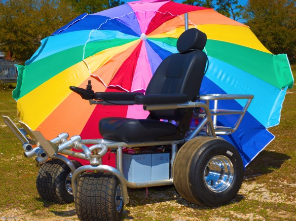 With all aluminum rims, italian motors, and a style next to none, you will be the envy no matter where you go in one of our awesome motorized beach wheel chairs