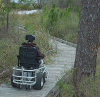 our powered beach wheelchair does more than sand